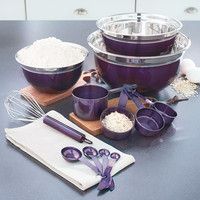 6 Piece Stainless Steel Mix & Storage Bowl Set, Mixing Bowls with Lids and Measuring Cups Set