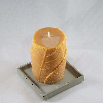Flower Imprint Natural Palm wax Candle
