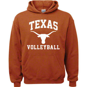 Texas Longhorns Texas Orange Volleyball Arch Hooded Sweatshirt