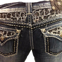 MISS ME JEANS WOMENS LEOPARD BLING RHINESTONE SIZE 30 31 32 SUPER RARE!!!!!!!!