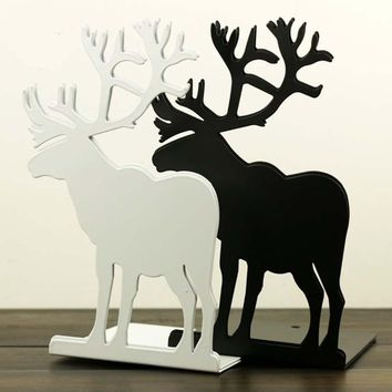Book Deer Bookends Organizers Holder For Creative shelf Office Tools metal