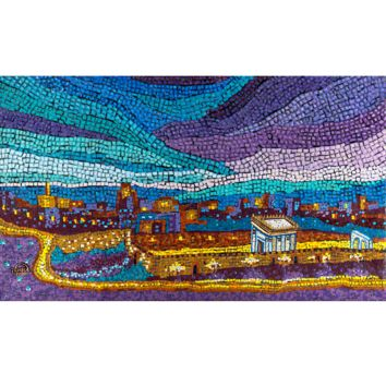 Beit Hamikdash Mosaic by Geula Twersky, Wall Art