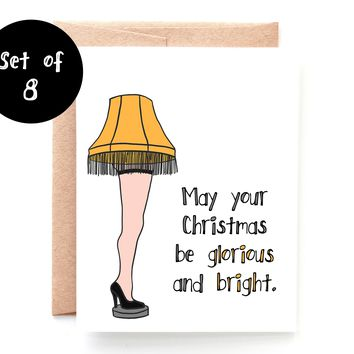 Glorious and Bright Set of 8 Boxed Christmas Cards
