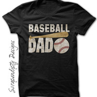 Baseball Dad Shirt - Mens Baseball Outfit / Little League Dad Clothing / Dad Baseball Shirt / Father's Day Gift Baseball / Baseball Tshirt