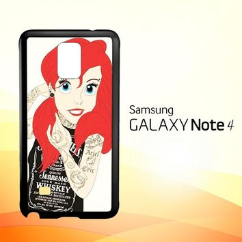 Tattooed Ariel Y0119  Samsung Galaxy Note 4 Case