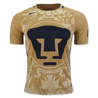 Mexico Pumas UNAM 2016/17 Home Men Soccer Jersey Personalized Name and Number