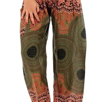 Forest Sunburst Honey Hive Harem Pants