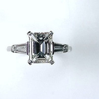 GIA 1.78ct E-VVS2 Emerald Diamond Engagement Ring Platinum JEWELFORME BLUE