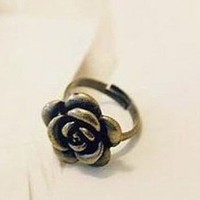 Rose Adjustable Ring Vintage Antique