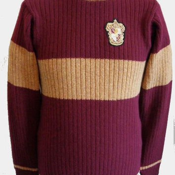 """Movie Inspired Hogwarts  School Sweater (made to order) Price is for XXL 42-44"""" chest"""