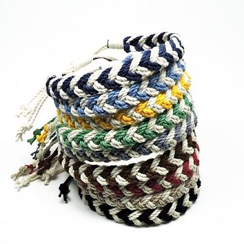 Adjustable Woven Chevron Anklet, choose from 17 colors