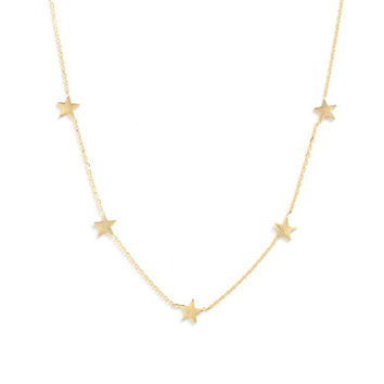 Tai Gold Simple Stars Necklace