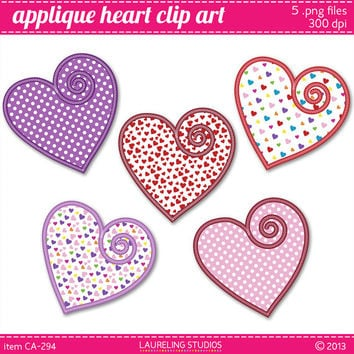 digital heart clipart for Valentine's day, scrapbook clipart heart .png commercial use DIGITAL DOWNLOAD CA294