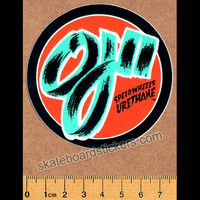 OJ Speed Wheels Skateboard Sticker
