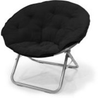 Large Microsuede Saucer Chair, Multiple Colors
