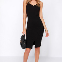 Perfect Physical Fit-ness Black Midi Dress