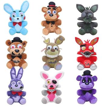 25cm  at   Plush Doll Toys Nightmare Funtime Springtrap Freddy Foxy Mangle Bonnie Bunny Stuffed Animals