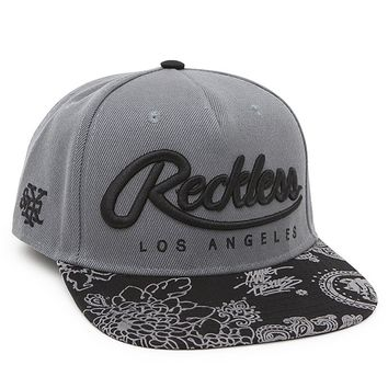 Young & Reckless Big R Script Snapback Hat - Mens Backpack - Black - One