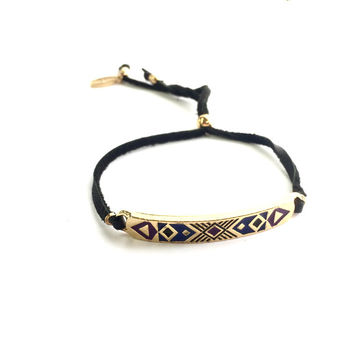 Time to Explore Tribal Bracelet in Black