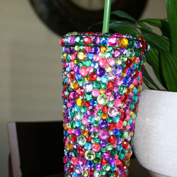 Multi Color Bling Tumbler