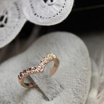 Jewelry Rings Crystal Heart Wedding Bands