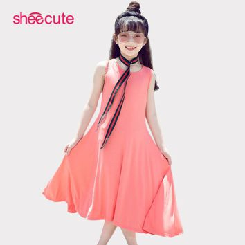 SheeCute Sleeveless Girls Dress Summer Casual A Line Party beach dress Vestidos SDS076