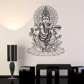 Vinyl Wall Stickers Ganesha India Hindu God Home Decoration Mural Decal Unique Gift (170ig)