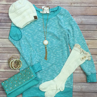 Patch Me Up Tunic: Mint