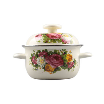 Casserole Enamel Cooking Pot 1-6 litre selection Cookware Stew /Stock Pot Random Pattern