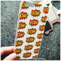 So Many POW!! Designed HARD Plastic iPhone Case, iPhone 6 Case, iPhone 6 Plus Case, iPhone 5s Case, iPhone 5 Case, iPhone 4s Case, POW Case