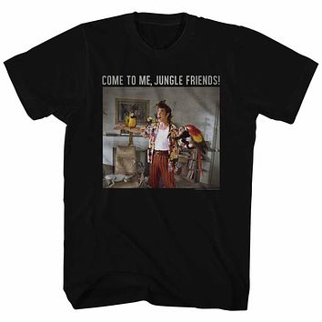 Ace Ventura T-Shirt Pet Detective Come To Me Jungle Friends Black Tee