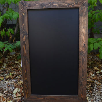 SHIPS IN 3-5 DAYS! Large Rustic Framed Chalkboard 44x28