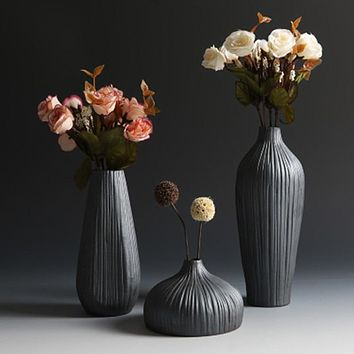 Gradient Ceramic Unique Flower Vase