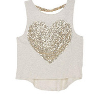 Sequin Heart Tank