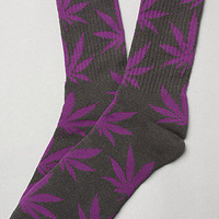 The Plant Life Socks in Grey & Purple