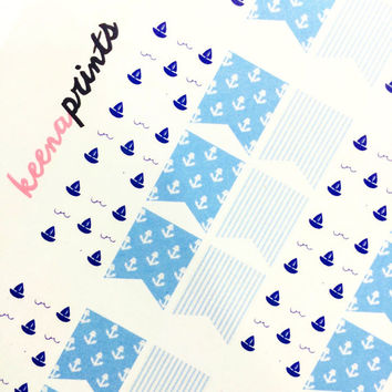 NAUTICAL PAGEFLAGS Planner Stickers, Erin Condren Planner, Plum Paper Planner, Kikki K, Filofax,Calendars