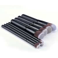 8Pcs Soft Synthetic Hair Make Up Tools Kit Cosmetic Beauty Black Makeup Brush Sets SV011419|27701 = 1652803140