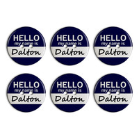 Dalton Hello My Name Is Plastic Resin Button Set of 6