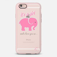 We're Having A Girl - Elephant Pink iPhone 6s case by Love Lunch Liftoff | Casetify