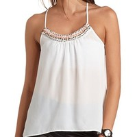 BEADED RACERBACK TANK TOP