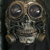 Steampunk Froggle Full Face Skull Gas mask ON SALE NOW!!!