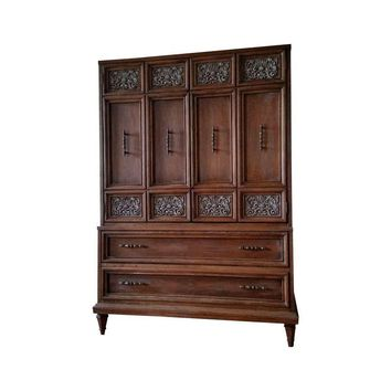 Pre-owned Rustic Distressed Wood Armoire