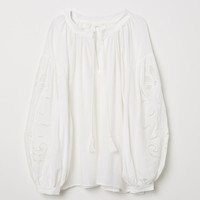 H&M Blouse with Cutwork Embroidery $39.99