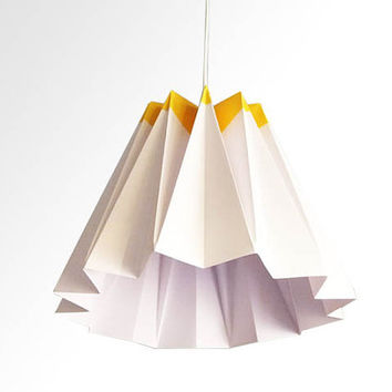 Jelly / Origami Paper LampShade - Yellow and White