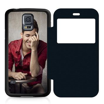 Prince Royce Cool Leather Wallet Flip Case Samsung Galaxy S5