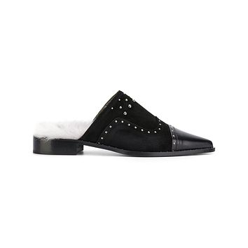 Chic Contrast Studded Mule
