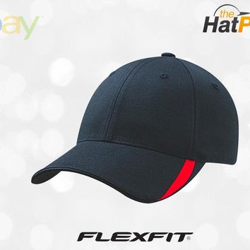 5006 Flexfit Sweep Low Profile Fitted Baseball Blank Plain Hat Ball Cap Flex Fit