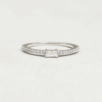 Baguette Eternity Ring - Silver