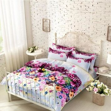 Queen full King size 4pcs bed set bedding sets/bedclothes/ duvet cover the bed linen home textile coverlet