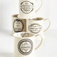 Sayings Absolutely Positive Mug Set by ModCloth